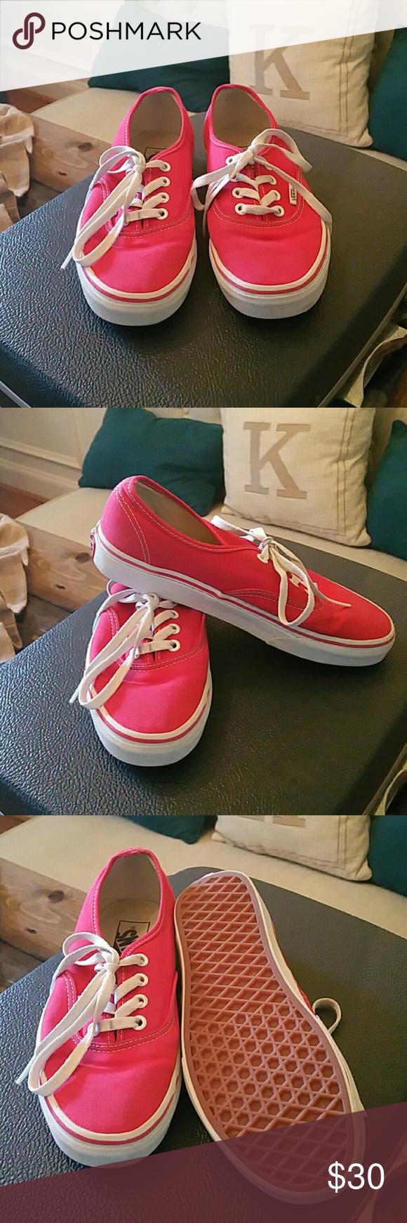 Vans sneakers Vans sneakers  Red color Women US 7.5 Vans Shoes Sneakers
