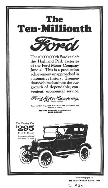 The Ten Millionth Ford Ad Ford Old Classic Cars Ford Models