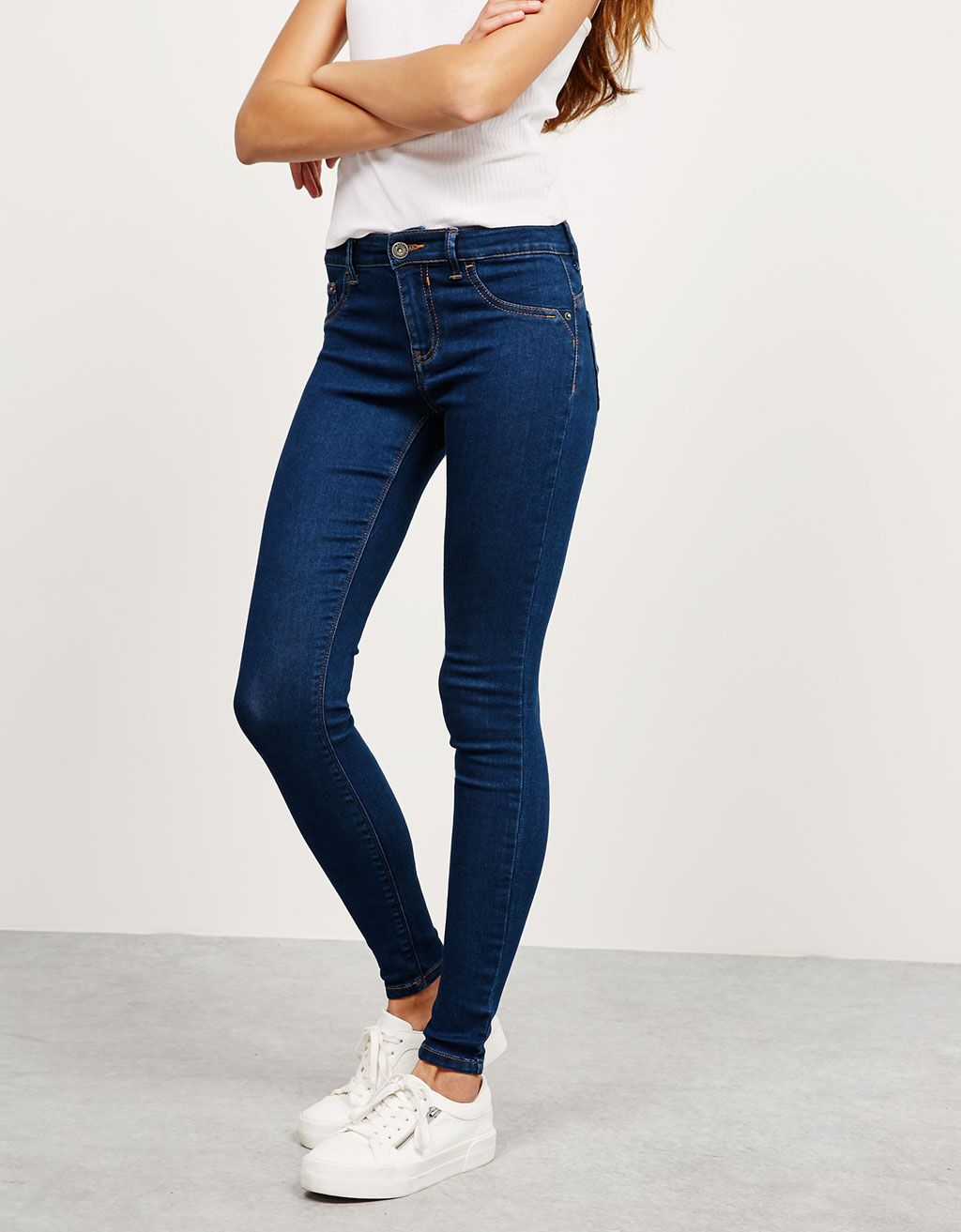 2e9a2d4d807 BSK push up jeans. Discover this and many more items in Bershka with new  products every week