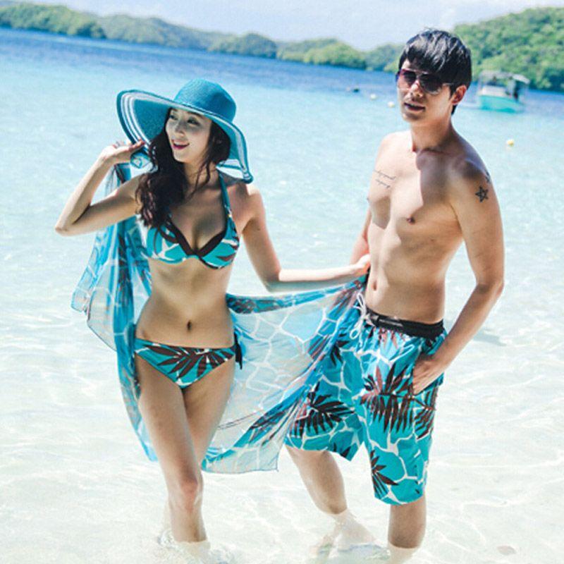7db468f5c3 New Men's Board Shorts Lover Shorts Couple Beach Wear Swimsuit Women Board  Shorts Bikini Sets Couple Swimwear Sexy Bikinis 2018 Price: 13.80 & FREE  Shipping ...
