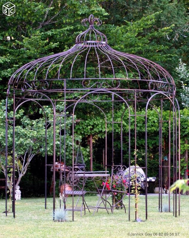 Gloriette touraine kiosque de jardin fer forg for Deco jardin fer forge