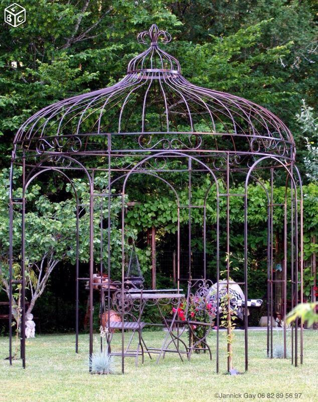 Gloriette touraine -kiosque de jardin -fer forgé Décoration Indre-et