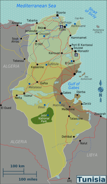 The map of tunisia with different regions in the country la the map of tunisia with different regions in the country sciox Images