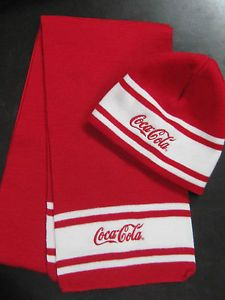 Coca-Cola Beanie Hat   Scarf Set Red   White FREE SHIPPING in  Collectibles bb741398301