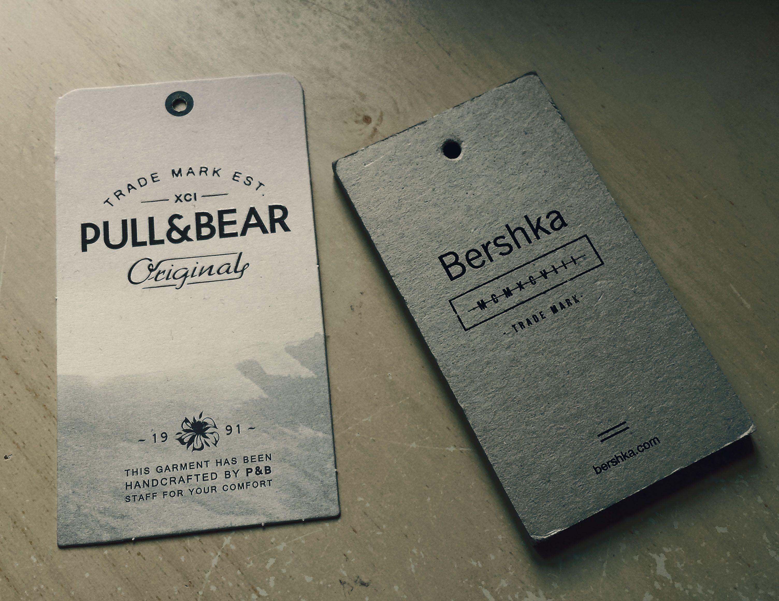 Pull Bear And Bershka Hangtag Desain