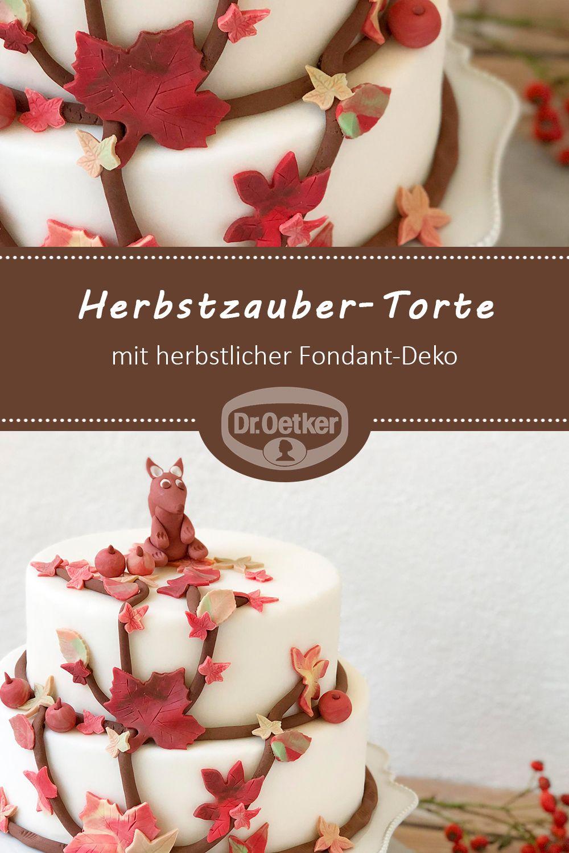 Herbstzauber Torte Rezept Torten Rezepte Kuchen Und Torten Susse Kuchen