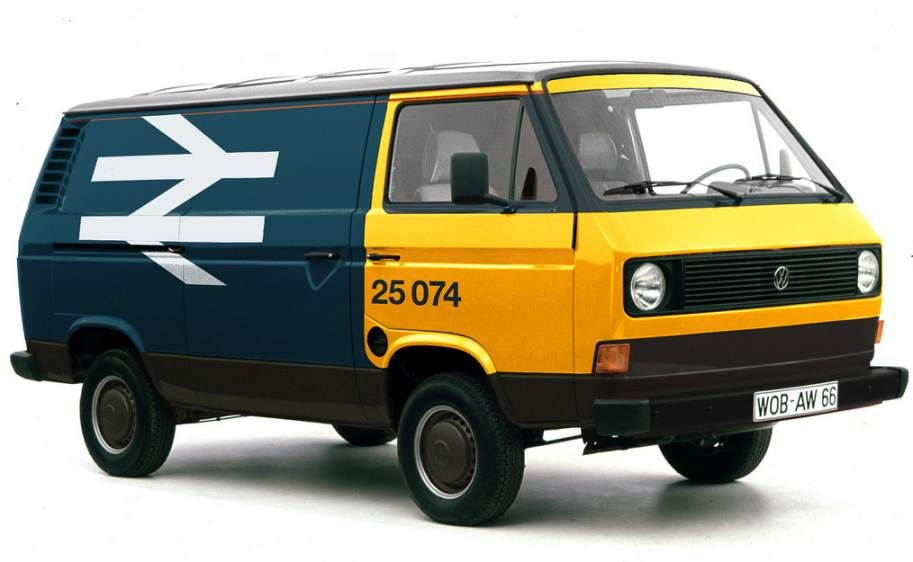 VW Type 25 van in British Rail livery