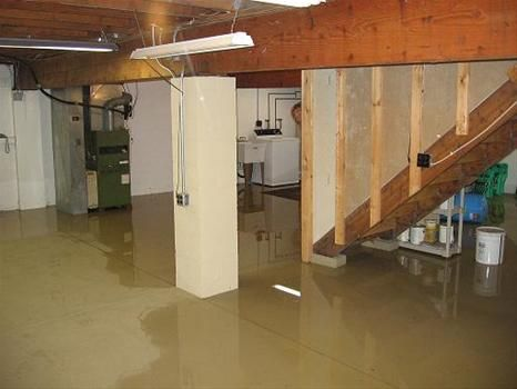 Fresh Water On Basement Floor