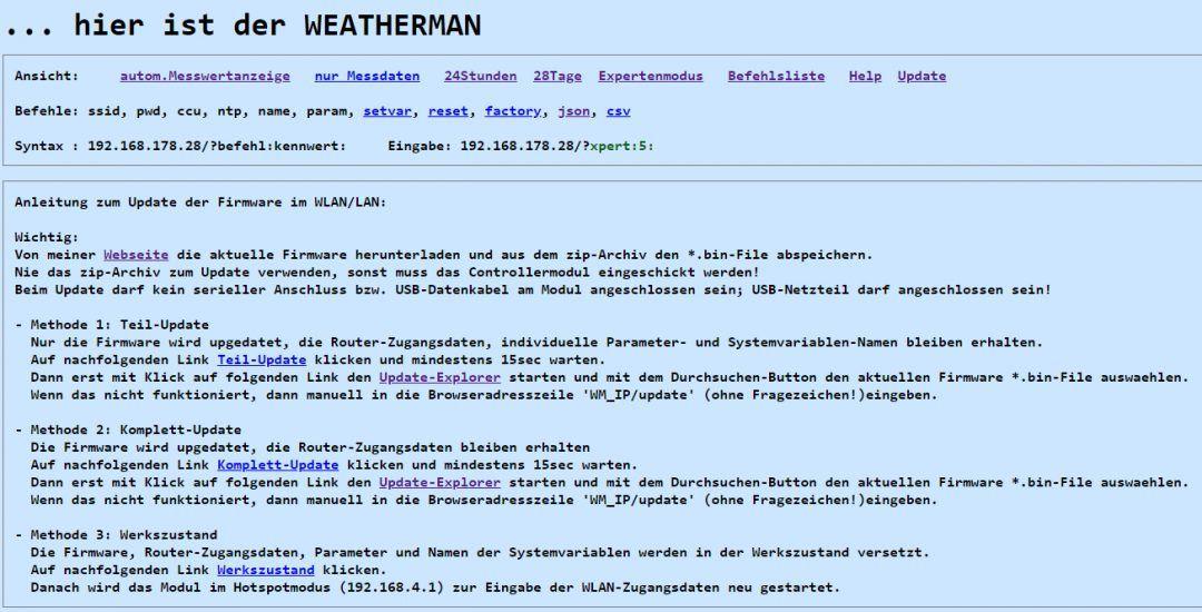 Weatherman Die Perfekte Wetterstation Fur Die Hausautomation Stall Hausautomation Wetter