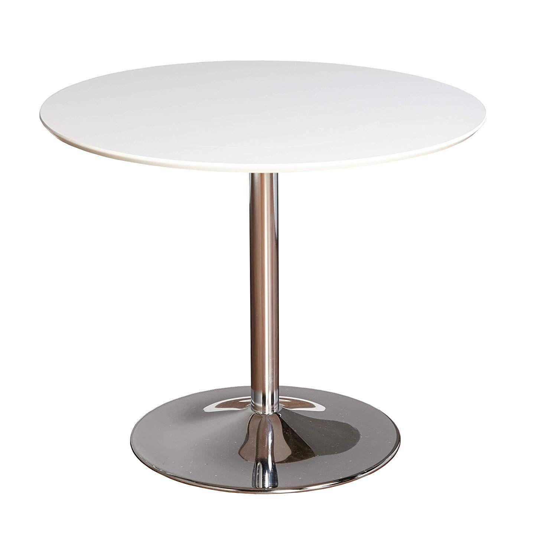 Tms 89017wht Pisa Modern Retro Round Dining Table 35 4 W White
