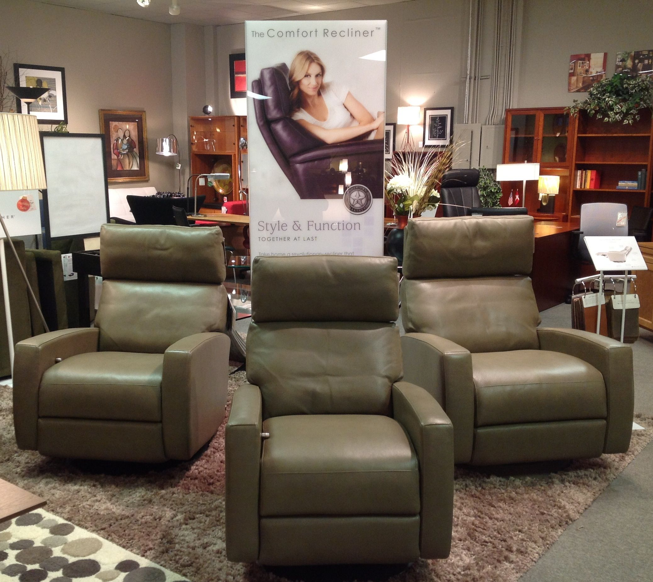 fort Recliners from American Leather Available at Scanhome