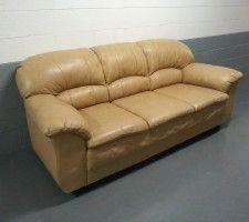 Cappuccino Color Leather Sofa