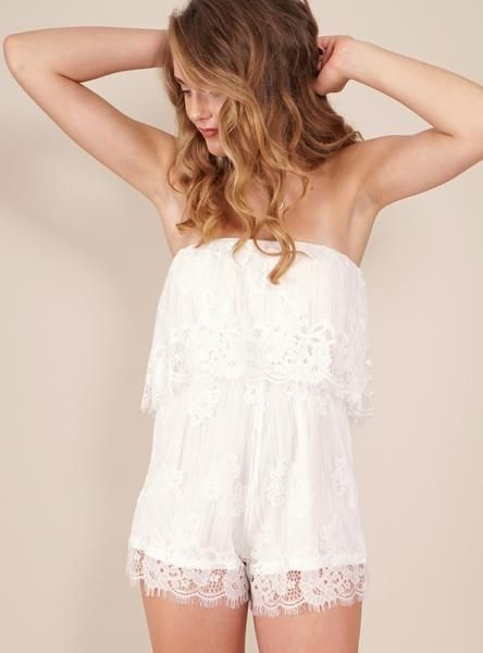 524afdf56c Pina Colada Playsuit in White by Reverse