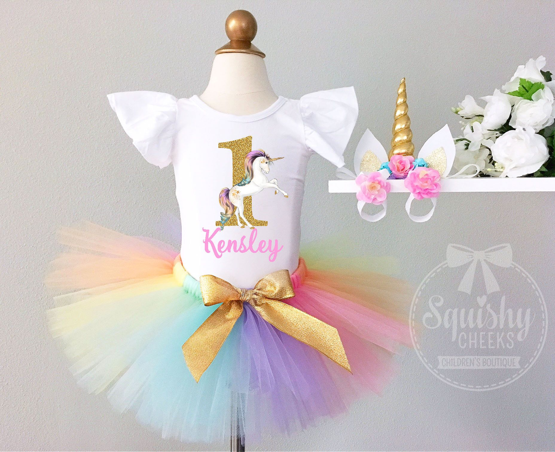 Rainbow Unicorn Birthday outfit rainbow unicorn bodysuit first birthday unicorn outfit baby girl birthday outfit 1st birthday unicorn outfit