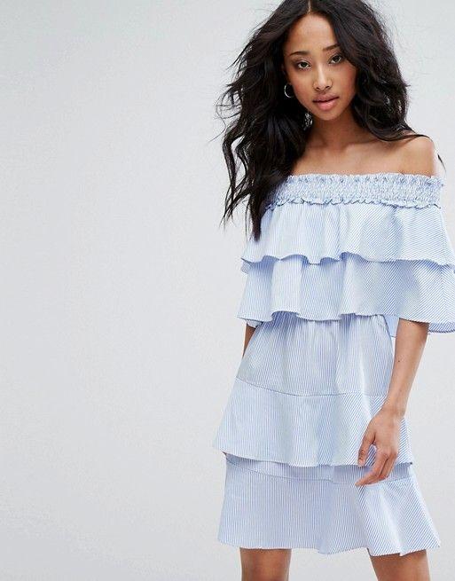 Petite White Ruffle Sleeve Bardot Shift Dress Pretty Little Thing Cheap Popular From China Sale Online nPnuN
