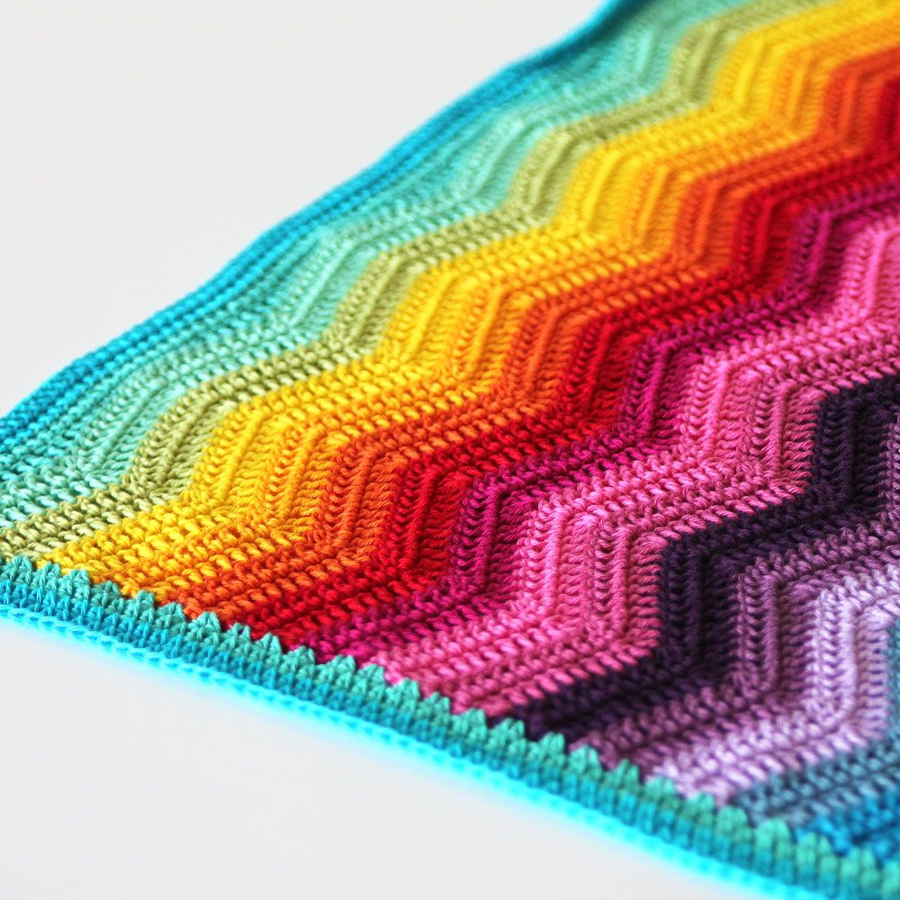 Rainbow ripple baby blanket | Decken