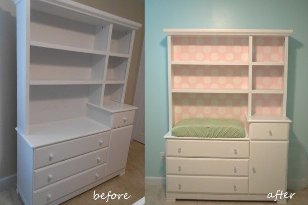 Changing table/ dresser and book shelf/ toy storage combo | Craft ...
