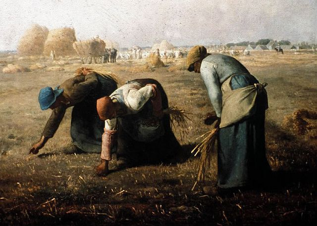 Gustav Courbet, The Gleaners. Another of Courbet's portrayals of Hard Times.