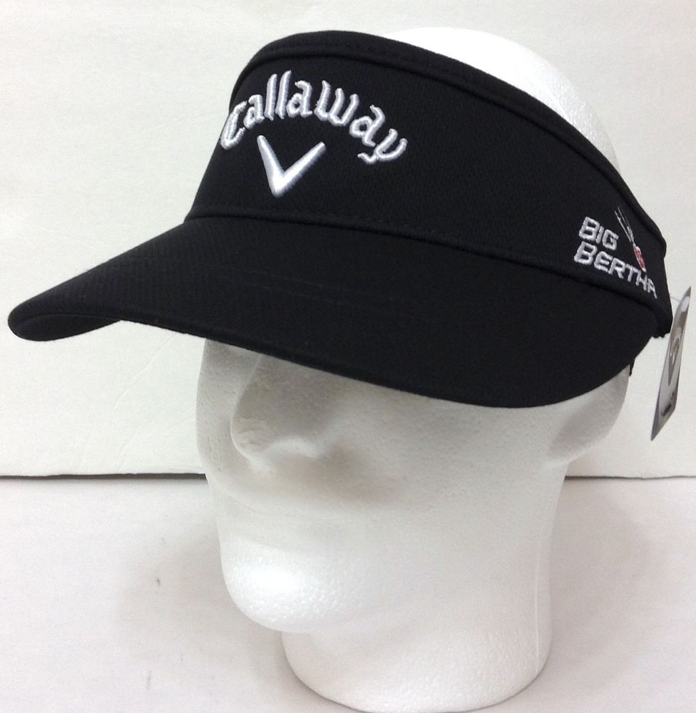 10e8c78c0a7 NWT Tour-Style CALLAWAY HIGH-CROWN VISOR Black Golf Big-Bertha Speed-Regime  Mens  Callaway  Visor