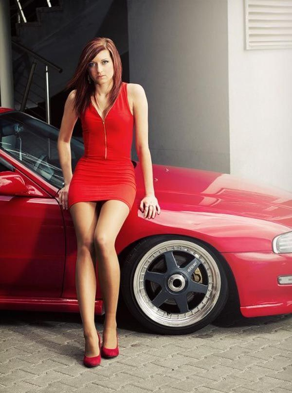 Modified tuner cars and sexy girls posing nude
