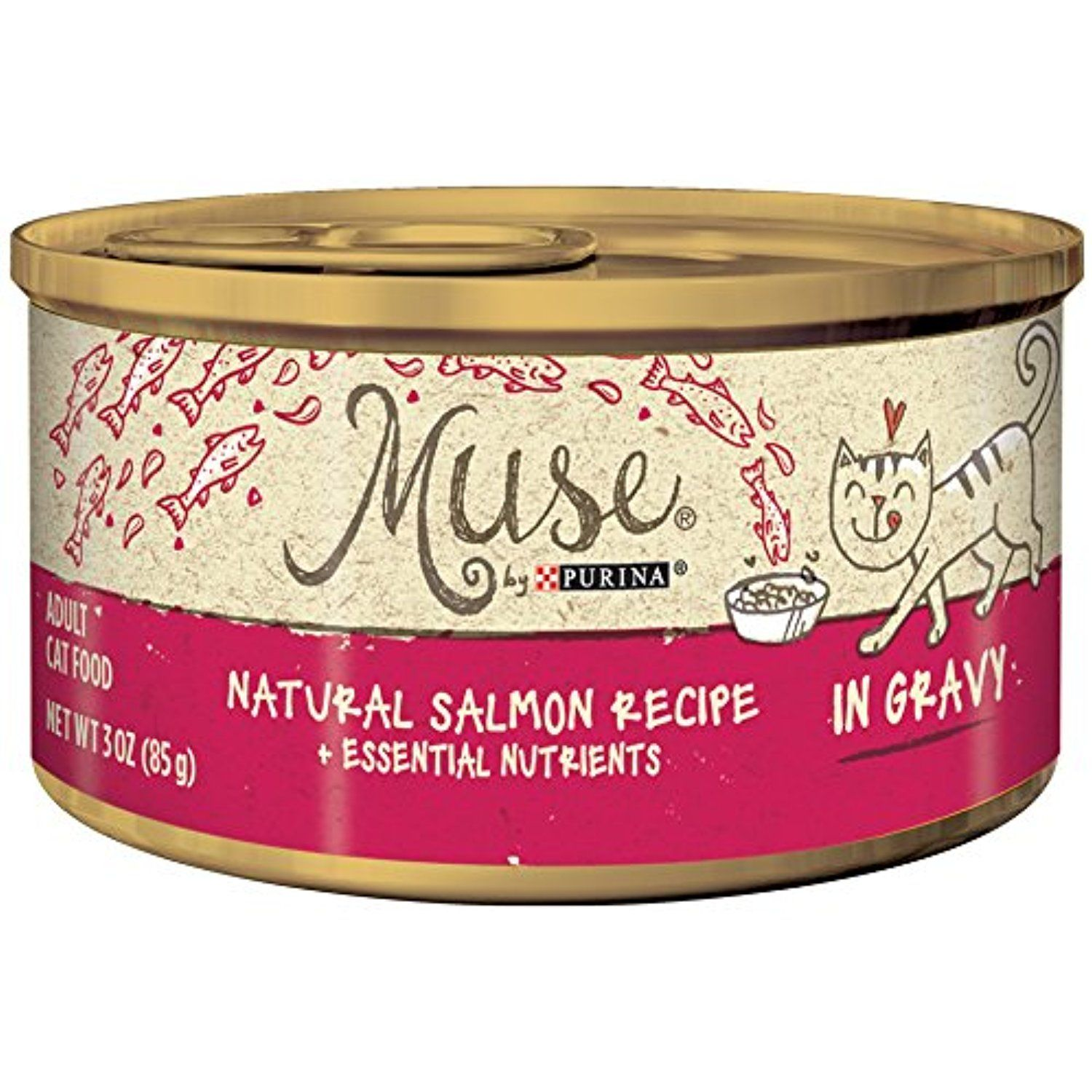 Muse by purina natural salmon recipe in gravy adult wet