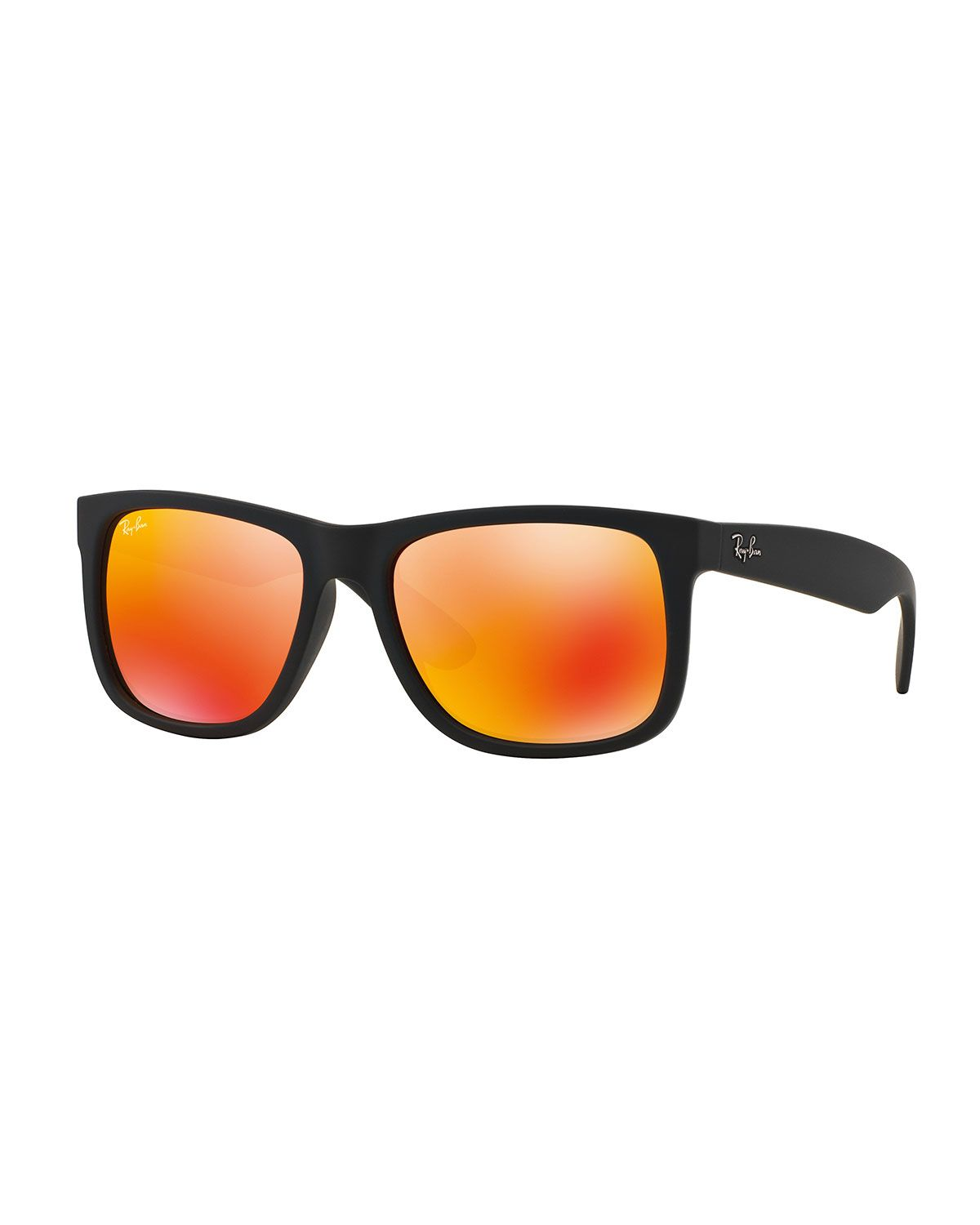 92db1d228a Flat-Top Plastic Sunglasses with Mirror Lenses