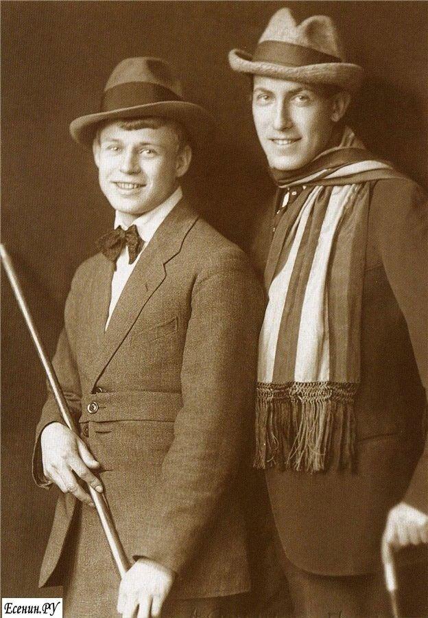 Есенин и Мариенгоф. | Russian poets, Russian men, Photo