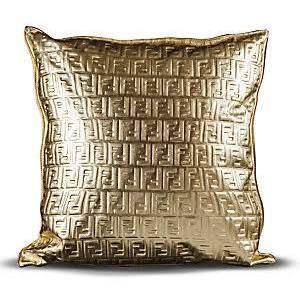Fendi Casa Leather Embossed Fendi Logo Pillow 950 Fendi Casa