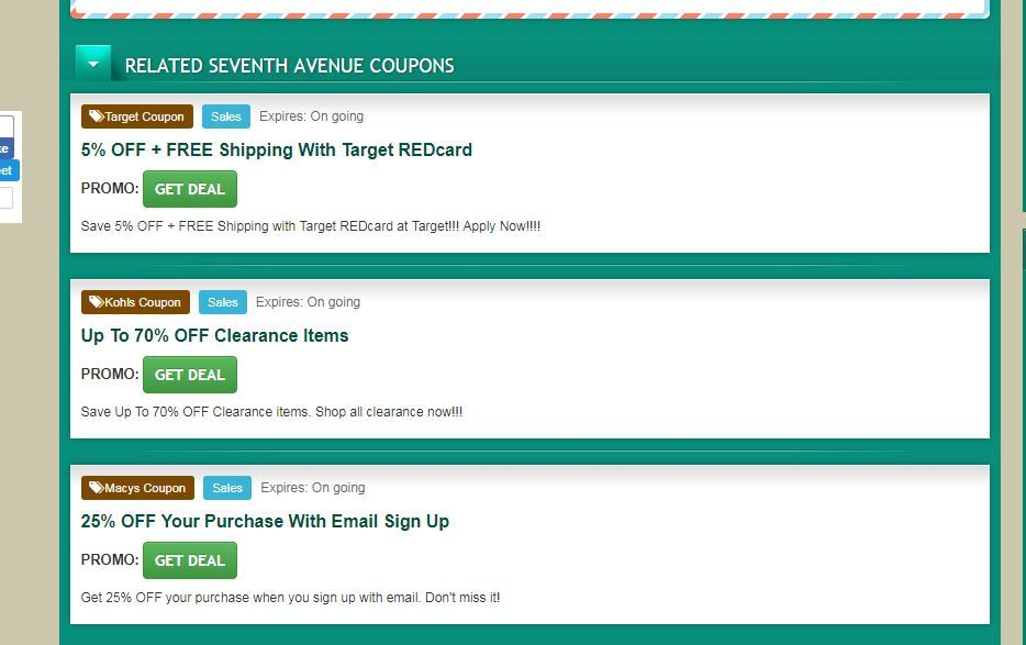Valid The Seventh Avenue Coupon Code 20 Off Coupons Kohls Coupons Coding