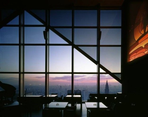 Panorámica desde la terraza del bar New York en Tokio