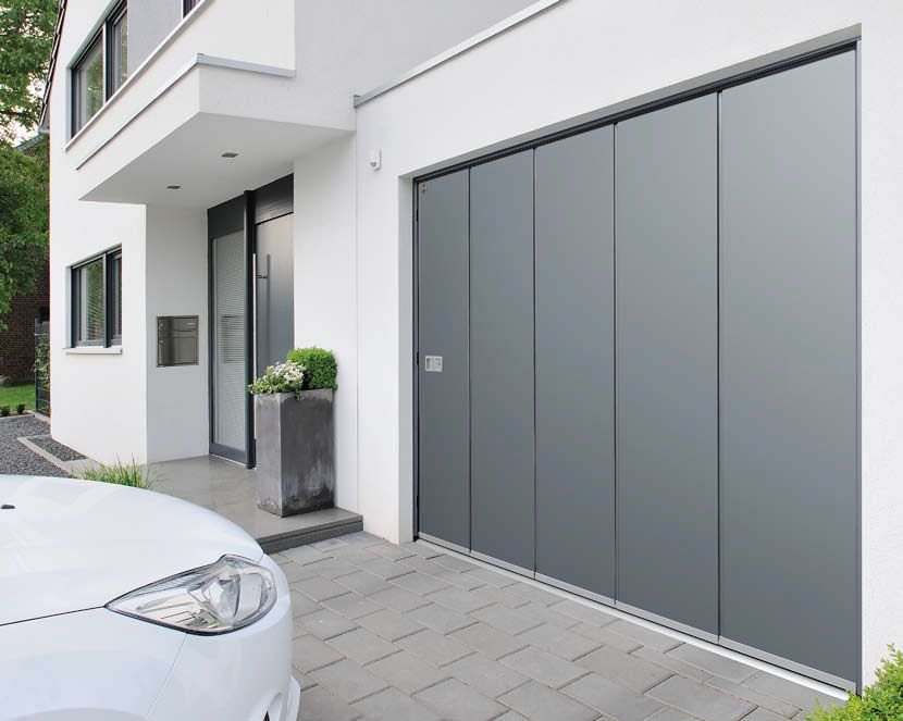 Side Sliding Sectional Garage Doors Aluminum Automatic Hst