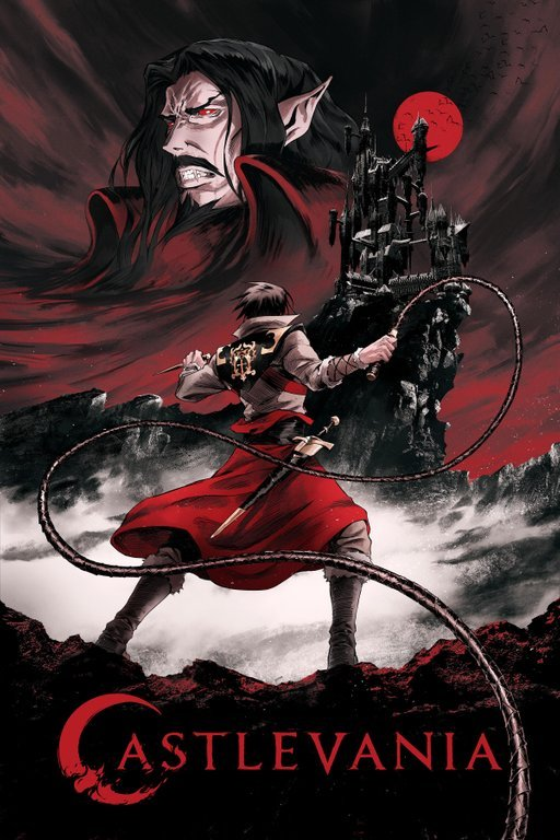 You can watch the japanese dubbed version of Castlevania