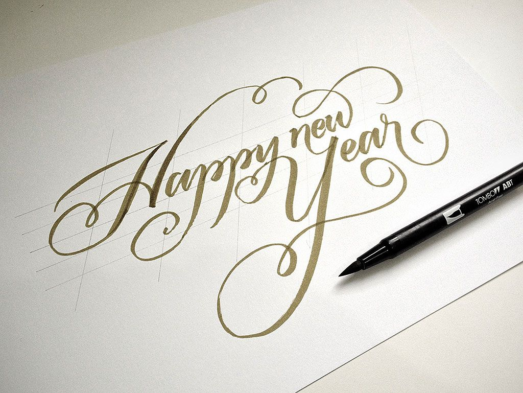 Happy new year calligraphy google search calligraphy