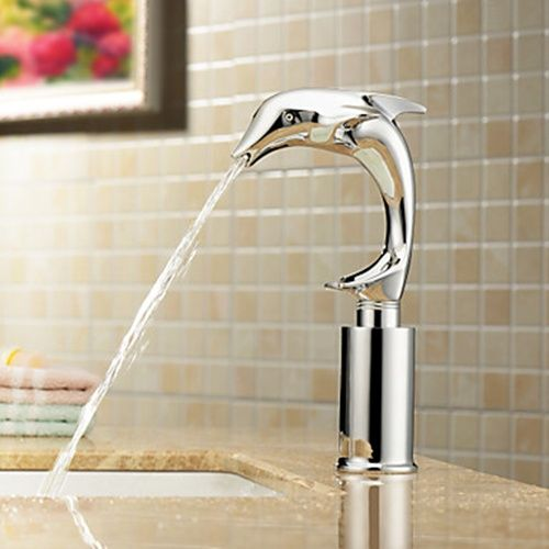 Contemporary Cold Sensor Chrome Finish Bathroom Sink Faucet