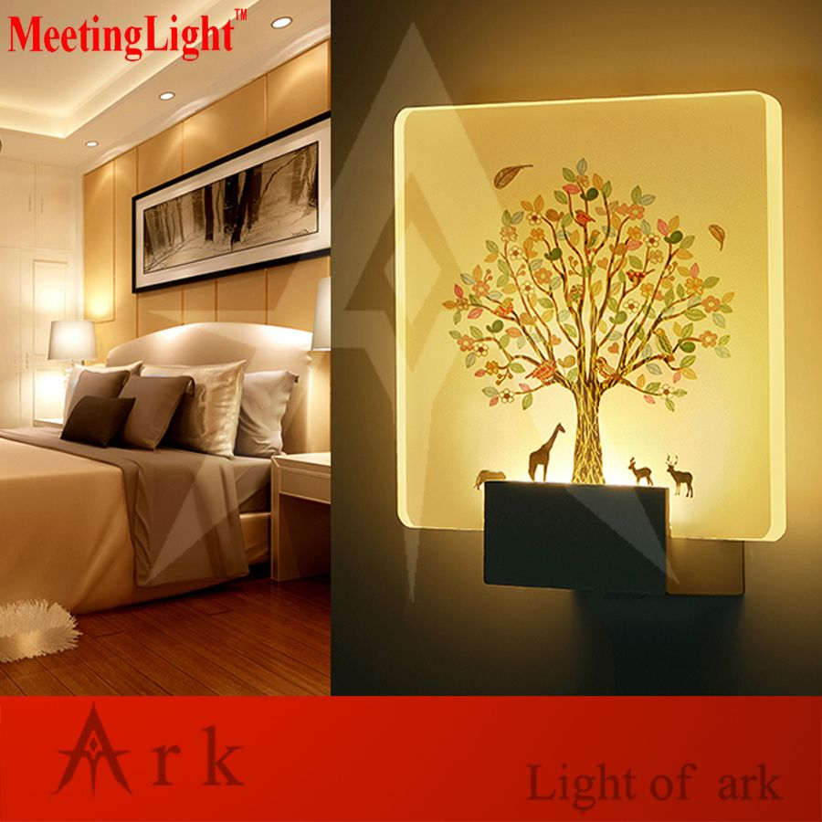 loveliness romantic picture led acrylic 5w SQUARE led Wall Sconce ...