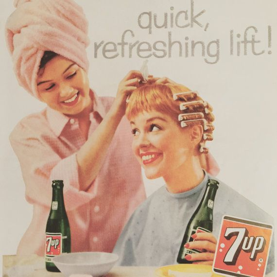 awesome 1958 vintage ad for 7up for a quick by thevintageempress