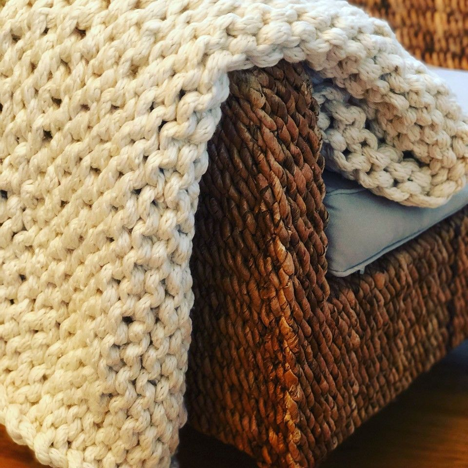DIY Chunky Blanket The Shabby Tree (With images