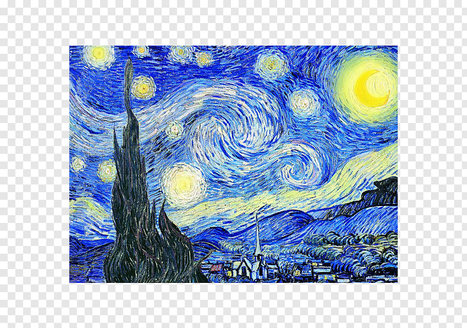 Starry Night By Vincent Van Gogh The Starry Night Jigsaw Puzzles Van Gogh 1853 189portable Network Gra In 2020 Pink Abstract Painting Watercolor Lion Starry Night