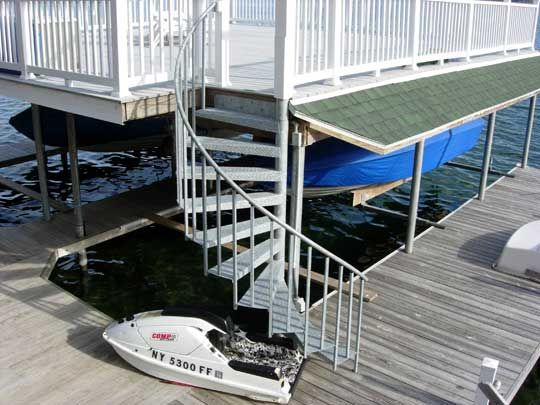 Best A Half Turn Spiral Stair On A Boat Dock Spiral Stairs 400 x 300