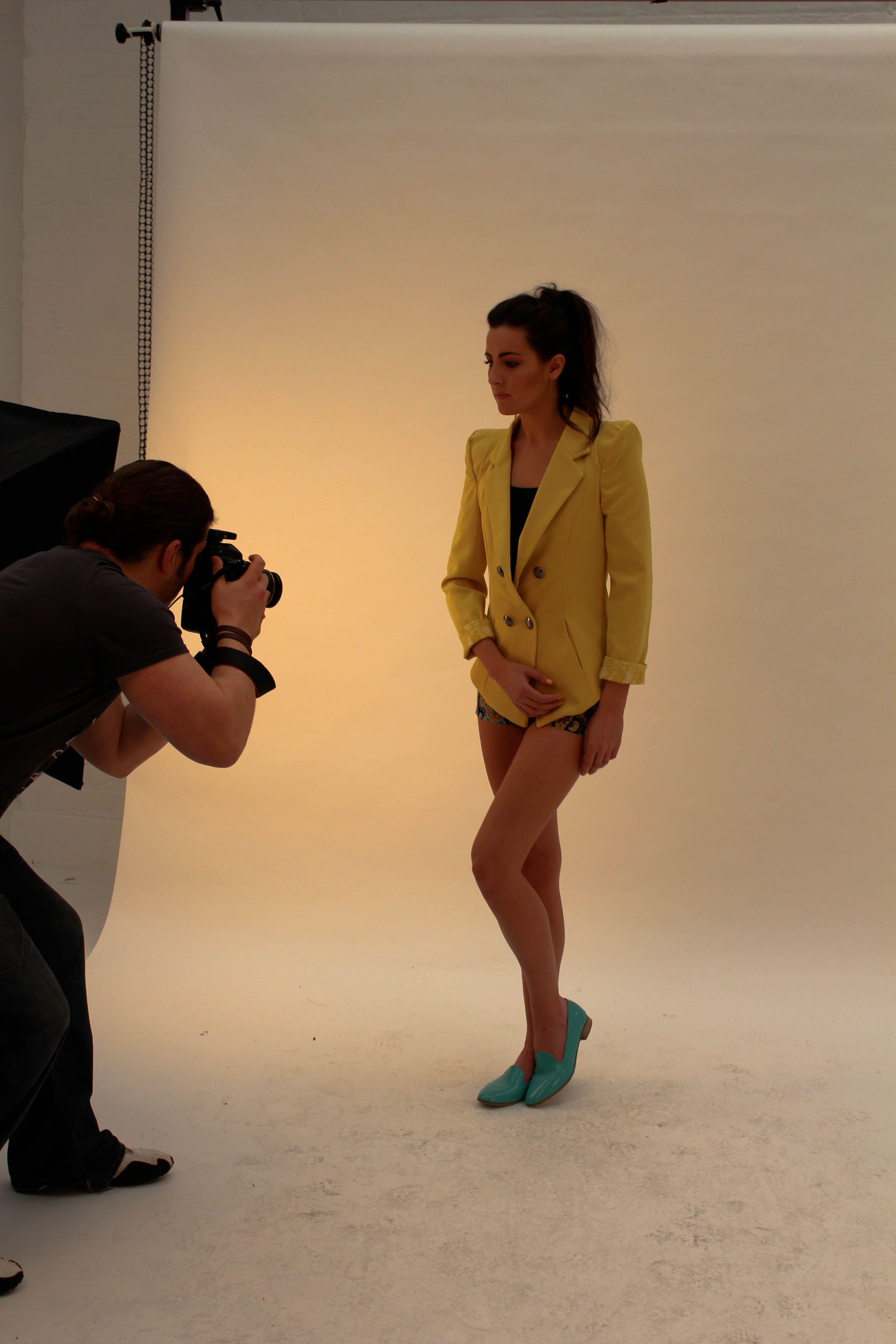 Yellow Lace Cuff Blazer £35.00