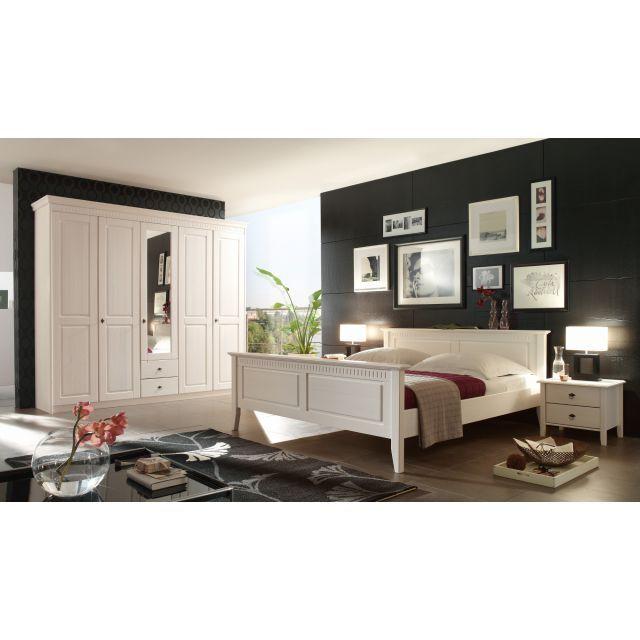 Fantastisch Schlafzimmer Massivholz Kiefer Massiv Weiß Landhausstil Bolzano1    OWL Möbelhandel