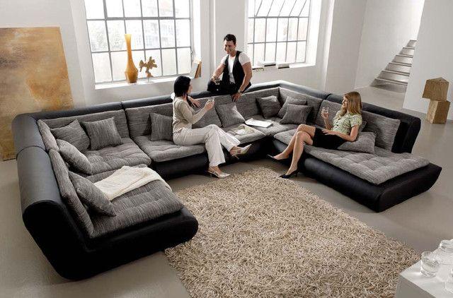 Atemberaubende Modular Leather Sectional Sofa Schlafsofas ...
