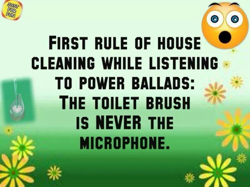 First rule of cleaning