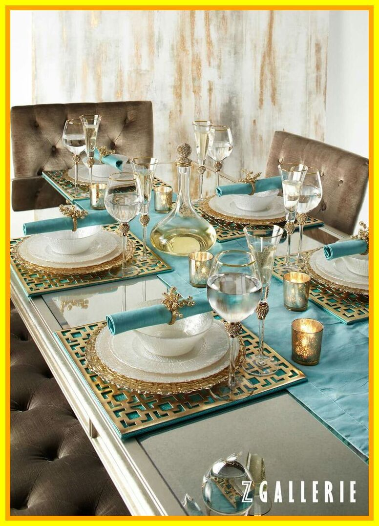 55 Reference Of Christmas Table Decorations Luxury In 2020 Table Setting Decor Gold Dining Dining Room Decor