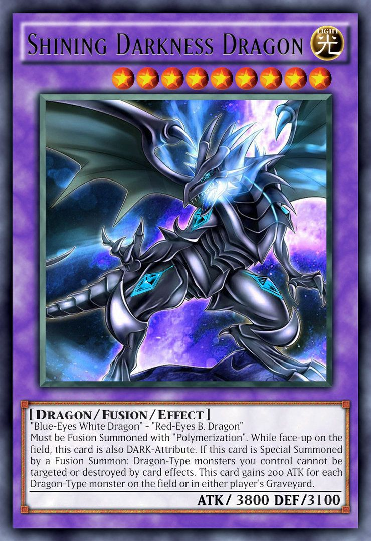 Shining Darkness Dragon Yugioh Dragon Cards Yugioh Cards Yugioh