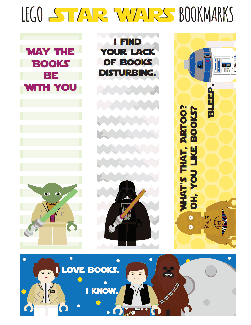 Libros Star Wars Pdf Lego Star Wars Printable Bookmarks Pdf Etiquetas 飾り