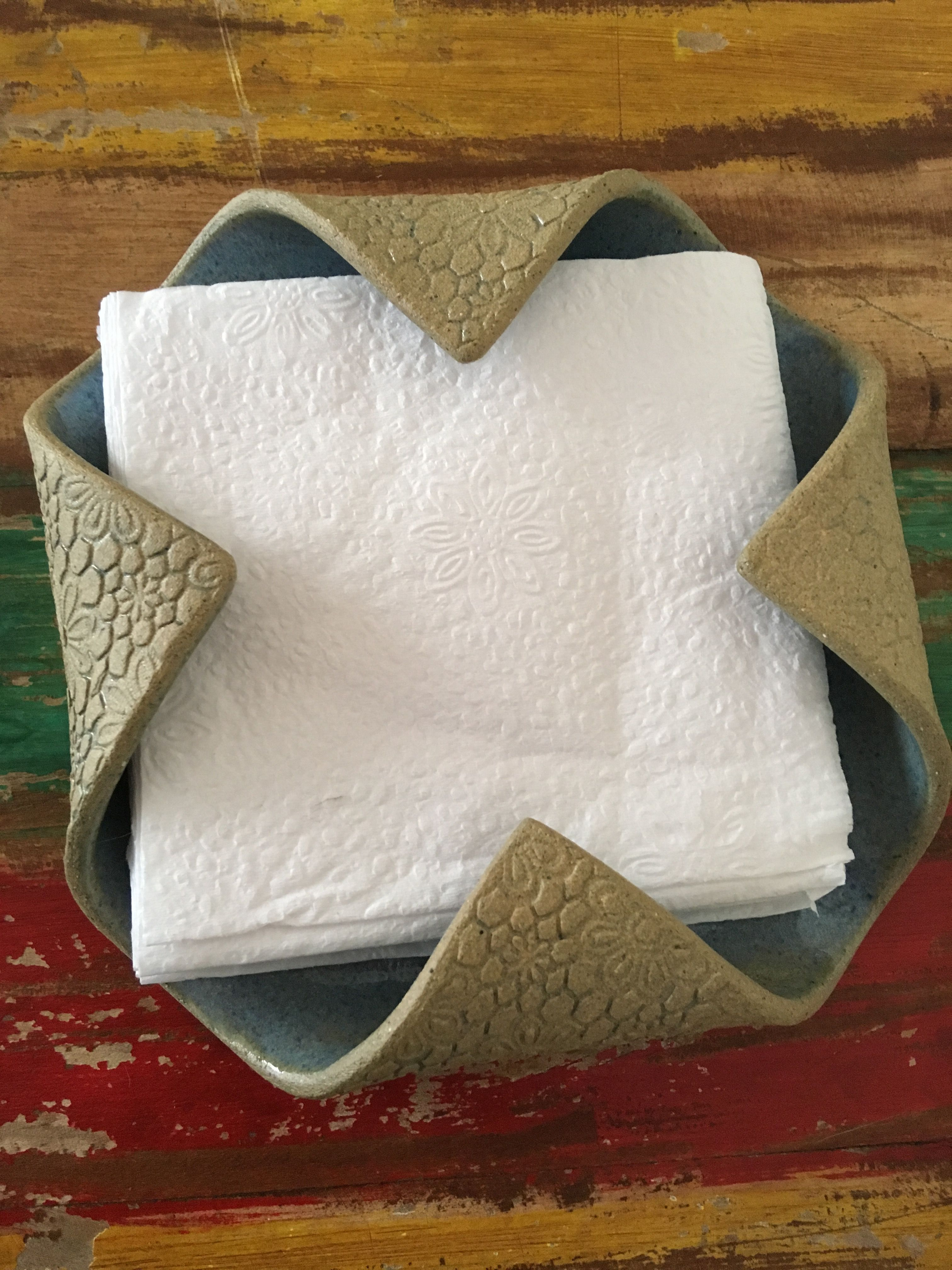 I a dumb dumb - where was this when I needed it? this is exactly the type of napkin holder I need! #TypesofPottery #ceramicpottery