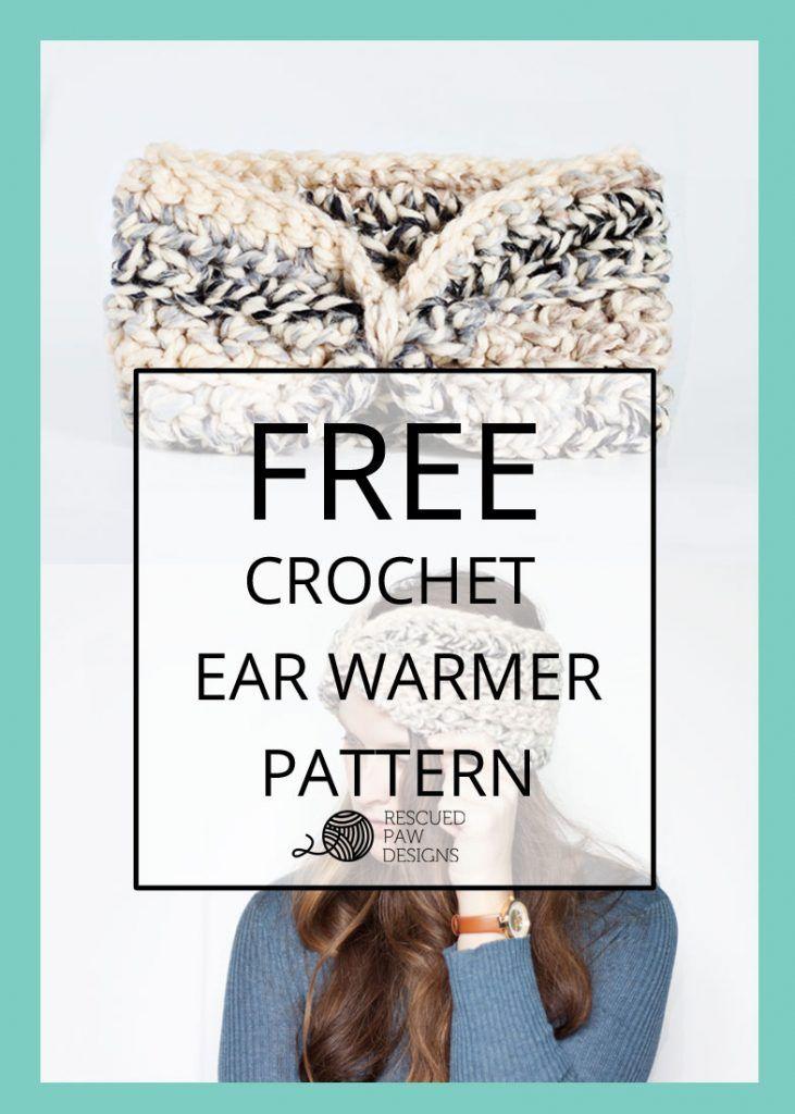 Easy Ear Warmer Crochet Pattern for Beginners | Crochet | Pinterest