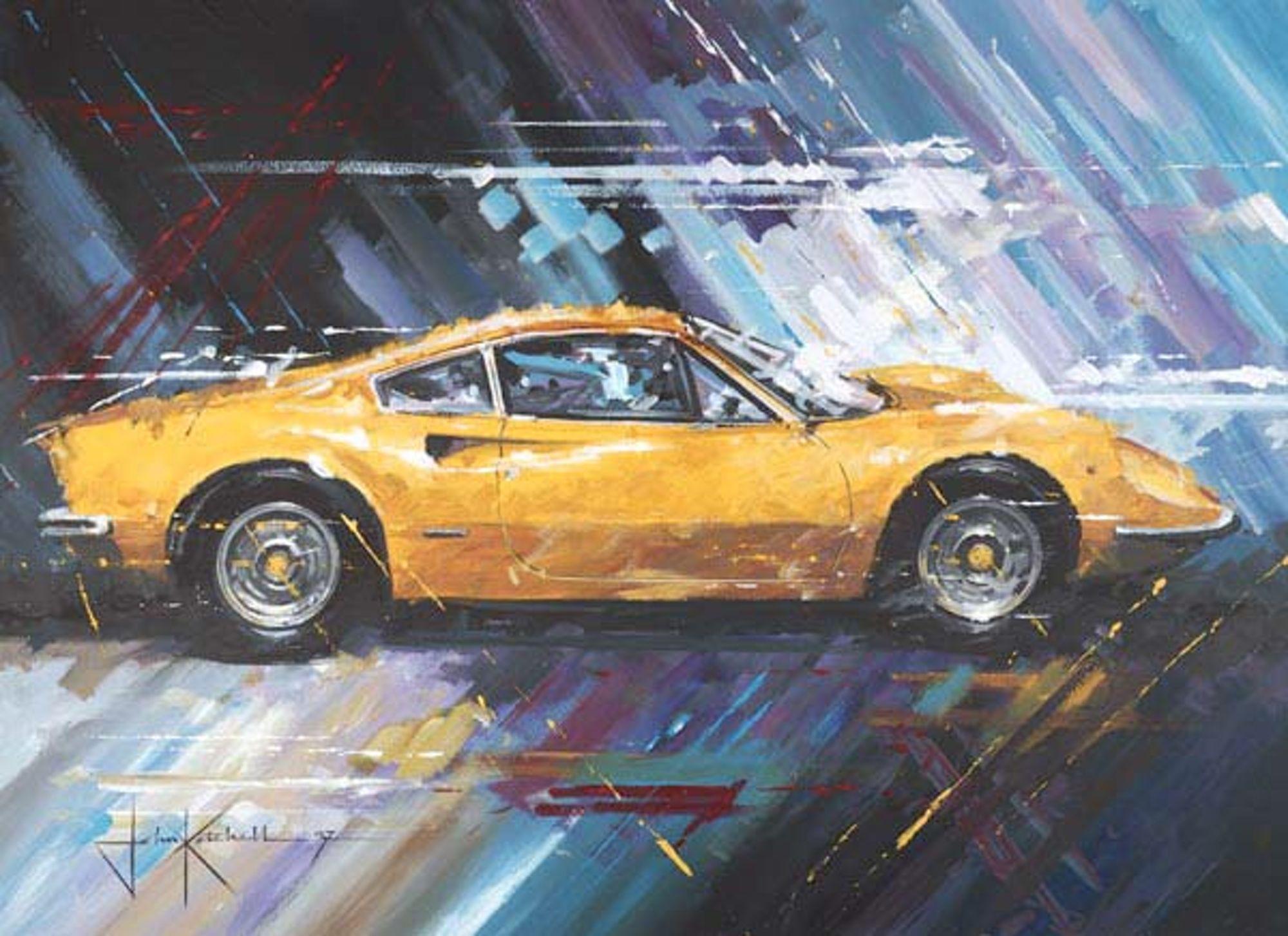 John Ketchell Paints Semi Abstract Racing Fury Cool Car Drawings Art Cars Auto Racing Art