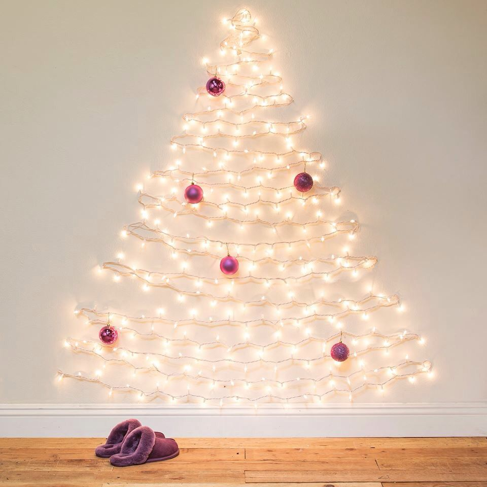 No room for a tree? Make one on the wall!
